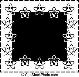 Frame based on Celtic star knot