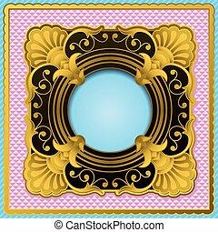 frame, black , goud, sierlijk