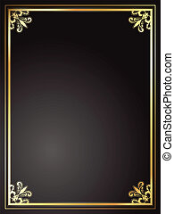 frame, black , goud
