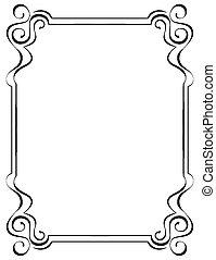 frame, black , witte achtergrond, sierlijk