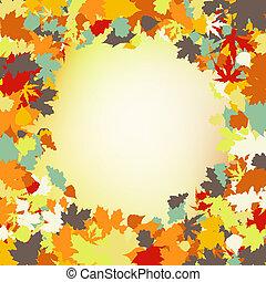 frame., bladeren, eps, herfst, 8, ?olorful