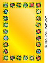 frame, bloem, achtergrond