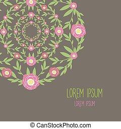 frame, bloem, helft