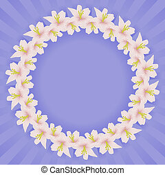 frame, bloemen