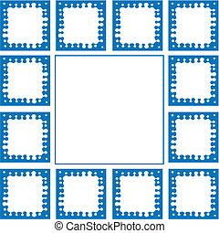 Frame blue