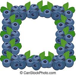Frame blueberries
