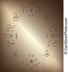 frame old over bronze background vector illustration