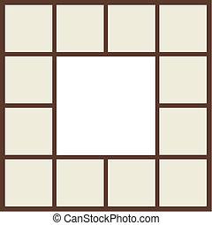 Frame brown beige