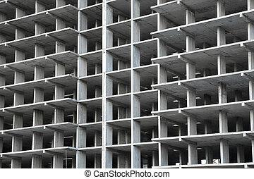 frame building under construction of concrete