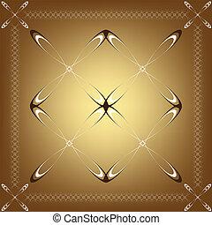 frame, calligraphic design element