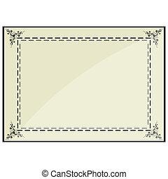 frame, certificaat