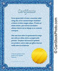 frame certificate template