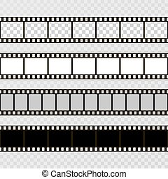 frame., cine, set., colección, cámara., vector, plano de ...