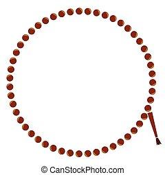 Frame - Circle Prayer Beads - Vector Frame - Circle Prayer...