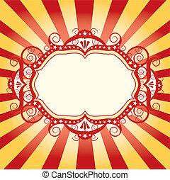frame, circus, flyer