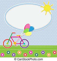 Frame colorful bike