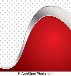frame., colorito, astratto, metallo, illustrazione, onda, fondo., vettore, trendy, rosso