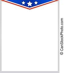 Frame corner USA flag.