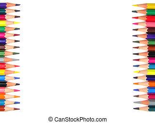 Frame crayons