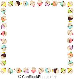 frame, cupcake