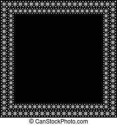 frame., décoratif, vecteur, décoratif