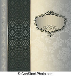 frame., decoratief, achtergrond, elegant