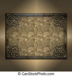 frame, decoratief, achtergrond, grunge
