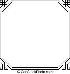Frame - Decorative frame on white background
