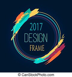 Frame Design 2017 Round Bright Border Art Brush