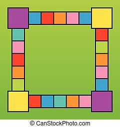 Frame design with colorful squares