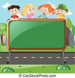 Frame design with kids on board