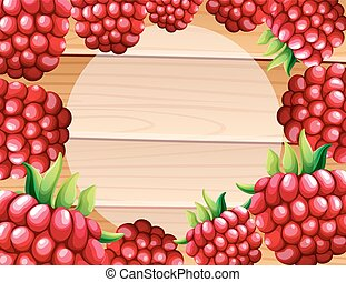Frame design with raspberries