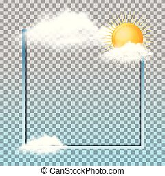 Frame design with sun in the clouds