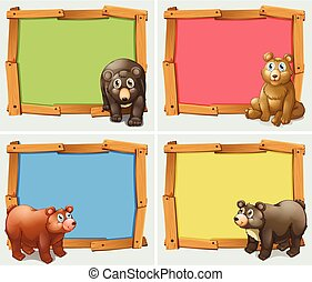 Frame design with wild animals