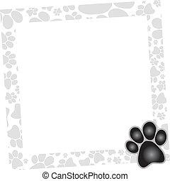 frame, dog