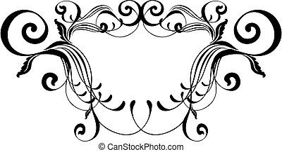 frame elegance - vector ornament, individual objects very ...