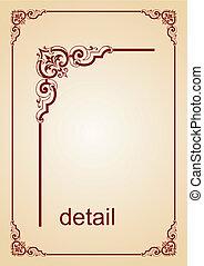 Frame - Elegance frame on light brown background