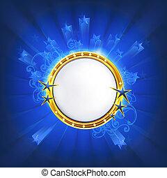 frame, eps10, blauwe , sterretjes