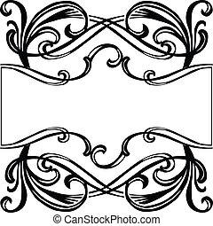 frame, filigraan, ornament