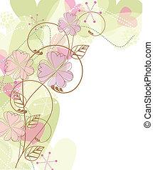 frame, floral