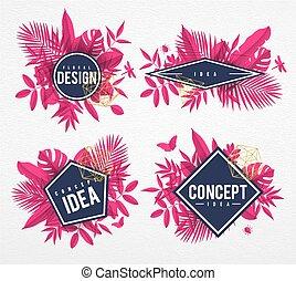 Frame floral pink
