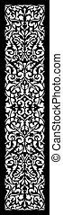 frame, floral, vector, symmetrisch, ornament
