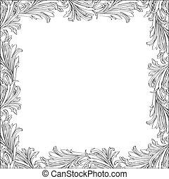 frame., floral