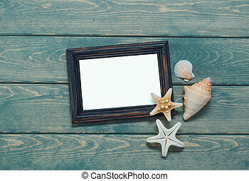 Frame for a photo in a marine style