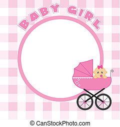 Frame for baby girl