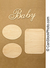 Frame for baby photo