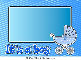 Frame for baby stroller for the boy