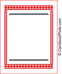 frame for cross-stitch embroidery red colors