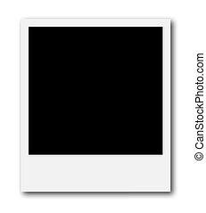 Frame for photo collage - A blank polaroid frame ready to...