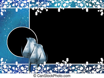 Frame for photo with roses - Beautiful rose with photo frame...